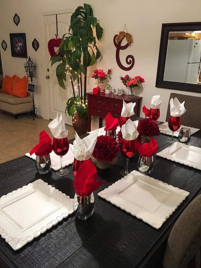 Cheap Valentine Table Decoration Ideas21