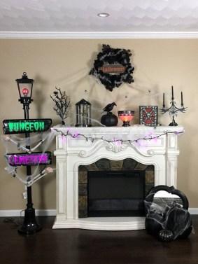 Incredible Halloween Fireplace Mantel Design Ideas15