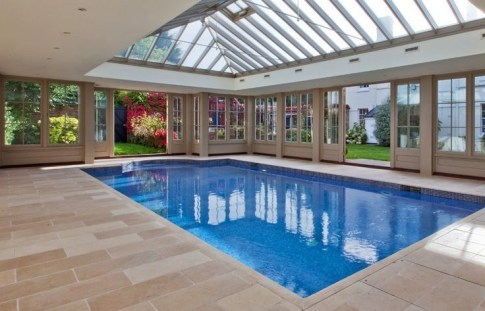 Amazing Glass Pool Design Ideas For Home18