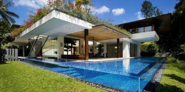 Amazing Glass Pool Design Ideas For Home23