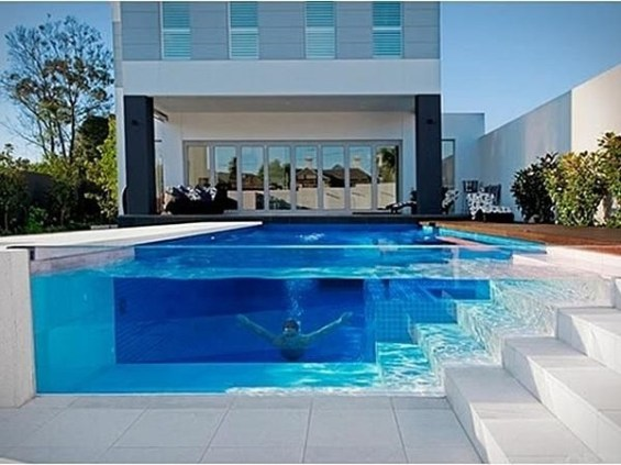Amazing Glass Pool Design Ideas For Home25