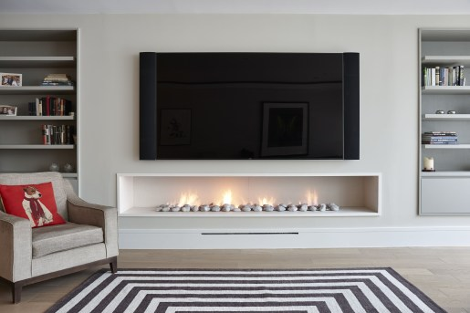 Cool Electric Fireplace Designs Ideas For Living Room01
