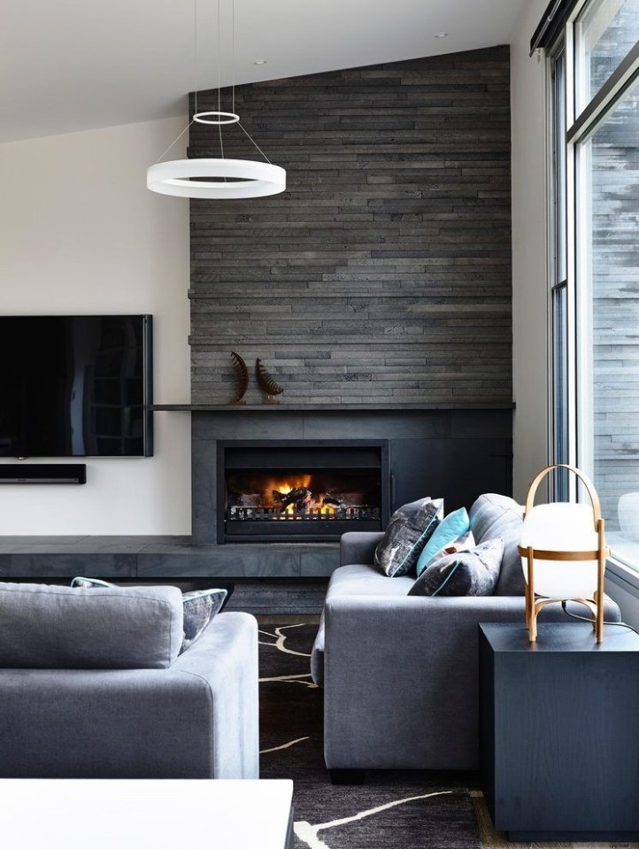 Cool Electric Fireplace Designs Ideas For Living Room04