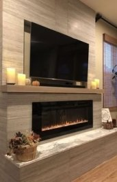 Cool Electric Fireplace Designs Ideas For Living Room09