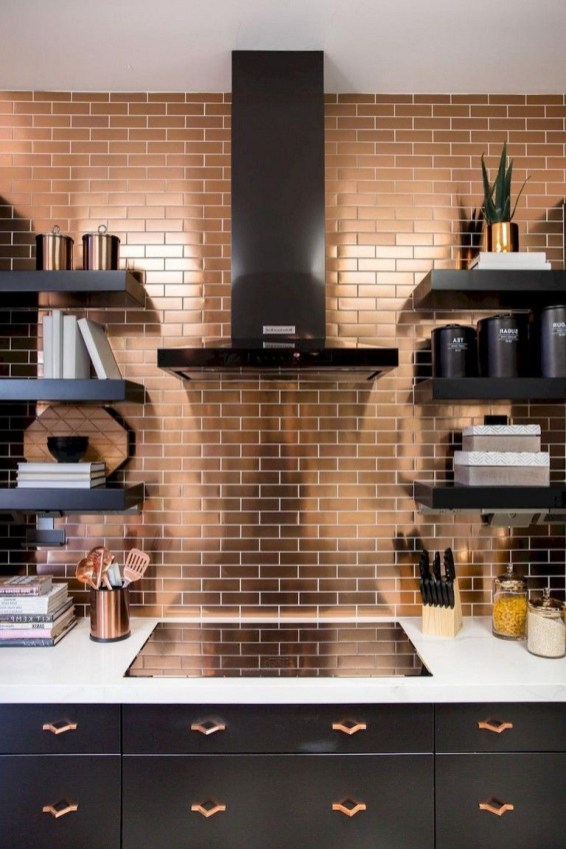 Latest Kitchen Backsplash Tile Ideas40