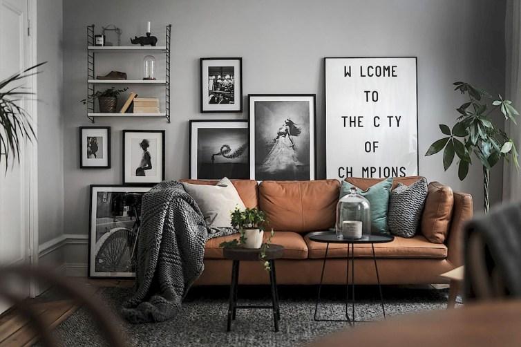 Perfect Scandinavian Living Room Design Ideas35
