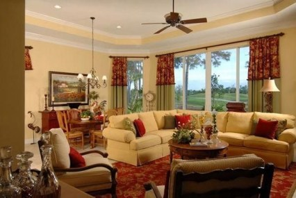 Pretty French Country Living Room Design Ideas16