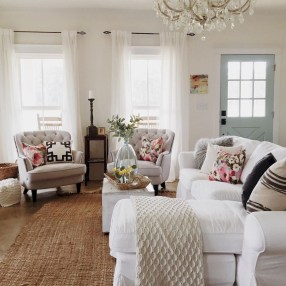 Pretty French Country Living Room Design Ideas19
