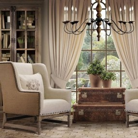 Pretty French Country Living Room Design Ideas20
