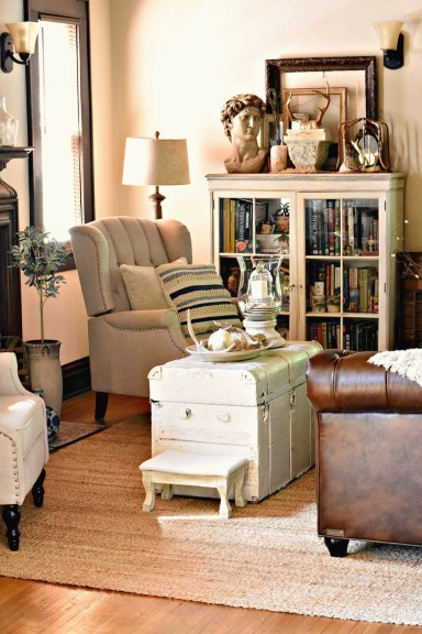 Pretty French Country Living Room Design Ideas21