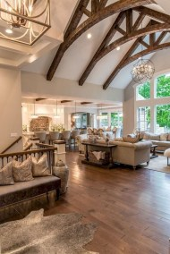 Pretty French Country Living Room Design Ideas33