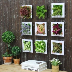 Simple Wall Plants Decorating Ideas29
