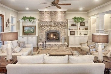 Smart Farmhouse Living Room Design Ideas44