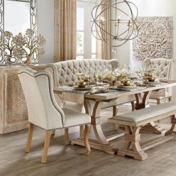 Wonderful French Country Dining Room Table Decor Ideas12
