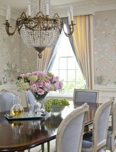 Wonderful French Country Dining Room Table Decor Ideas20