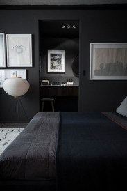 Amazing Black Bedroom Design Ideas For Home26