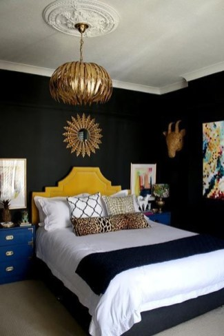 Amazing Black Bedroom Design Ideas For Home32