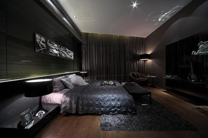Amazing Black Bedroom Design Ideas For Home33
