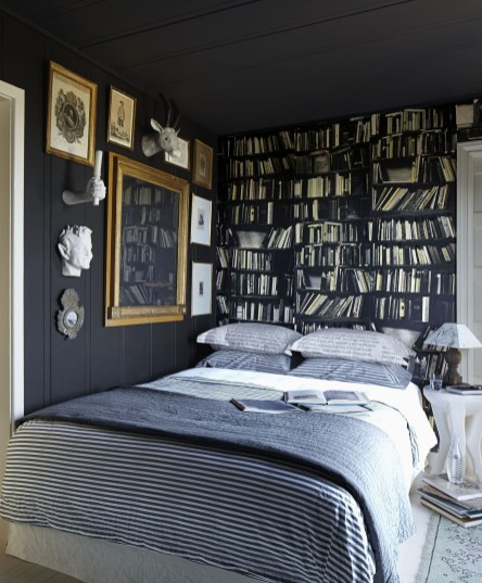 Amazing Black Bedroom Design Ideas For Home38