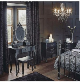 Amazing Black Bedroom Design Ideas For Home45