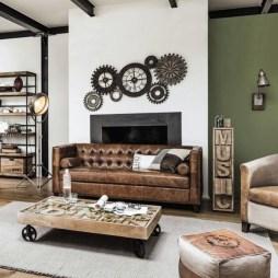 Creative Industrial Living Room Designs Ideas25