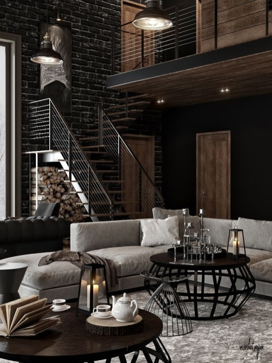 Creative Industrial Living Room Designs Ideas30