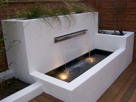 Stylish Outdoor Water Walls Ideas For Backyard36