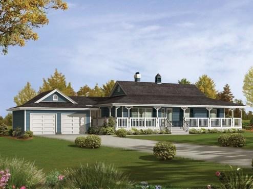 Creative Farmhouse House Plans Ideas With Wrap Around Porch40