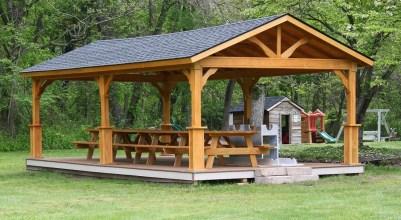 Modern Wood Pavilion Design Ideas For Backyard16