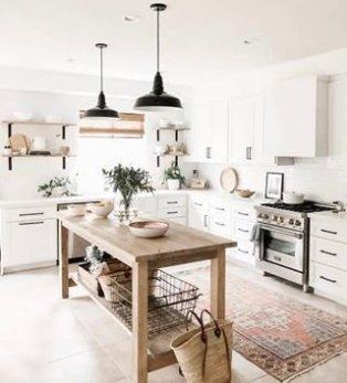 Popular Farmhouse Kitchen Art Ideas To Scale Up Your Kitchen26