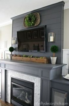 Unique Farmhouse Fireplace Design Ideas For Living Room15