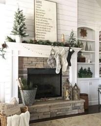 Unique Farmhouse Fireplace Design Ideas For Living Room36