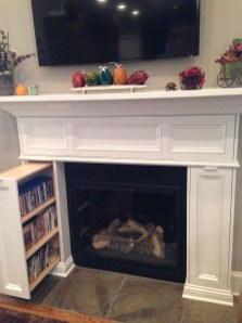 Unique Farmhouse Fireplace Design Ideas For Living Room40