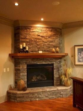Unique Farmhouse Fireplace Design Ideas For Living Room46