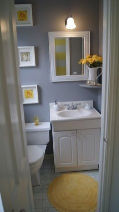 Wonderful Yellow And White Bathroom Ideas07