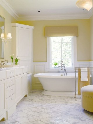Wonderful Yellow And White Bathroom Ideas09