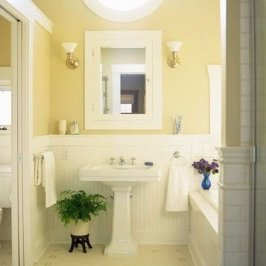 Wonderful Yellow And White Bathroom Ideas18