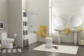 Wonderful Yellow And White Bathroom Ideas28