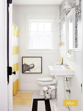 Wonderful Yellow And White Bathroom Ideas29
