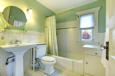 Wonderful Yellow And White Bathroom Ideas34