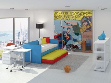 Best Memorable Childrens Bedroom Ideas With Superhero Posters 10