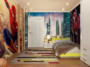 Best Memorable Childrens Bedroom Ideas With Superhero Posters 28
