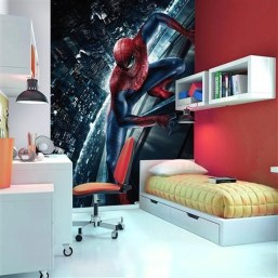 Best Memorable Childrens Bedroom Ideas With Superhero Posters 36