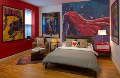Best Memorable Childrens Bedroom Ideas With Superhero Posters 43