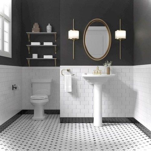 Brilliant Bathroom Tile Design Ideas That Very Inspiring 46
