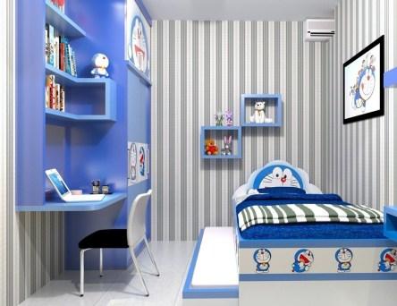 Impressive Kids Bedroom Ideas With Doraemon Themes24