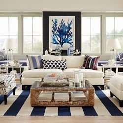 Inspiring Living Room Ideas With Beachy And Coastal Style08