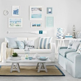 Inspiring Living Room Ideas With Beachy And Coastal Style13