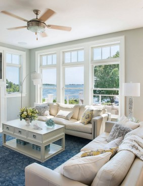 Inspiring Living Room Ideas With Beachy And Coastal Style16