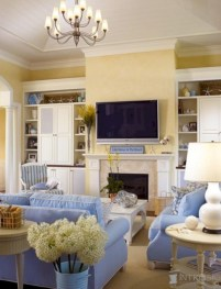 Inspiring Living Room Ideas With Beachy And Coastal Style32